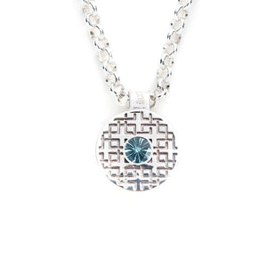 Lang Pendant in Nantucket Blue Topaz