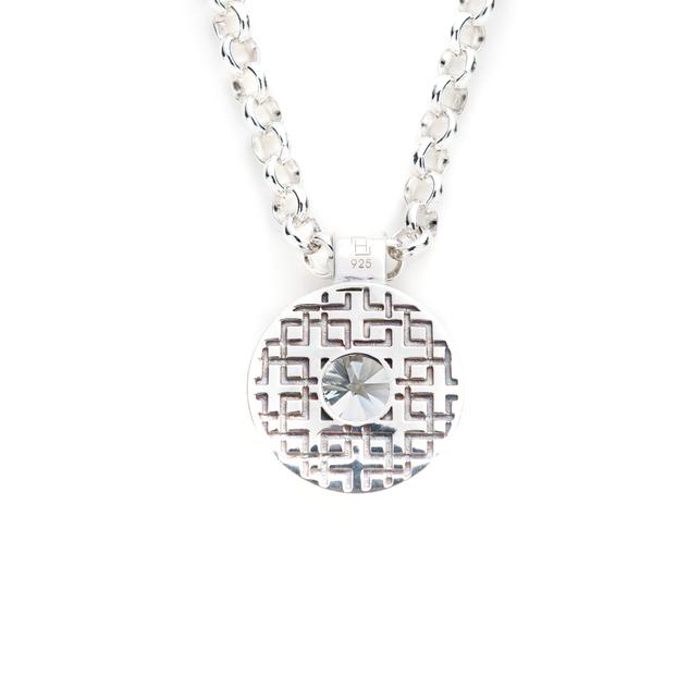 Lang Pendant in White Topaz