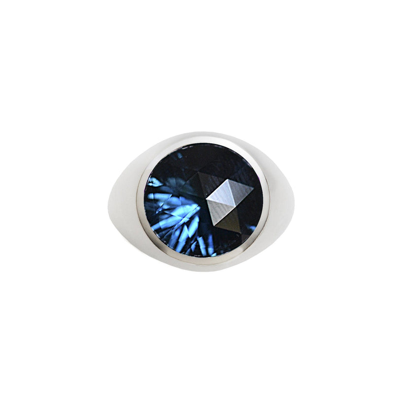 Lang Ring in London Blue Topaz