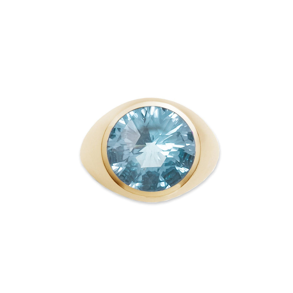 Lang Ring in 14k Gold with Nantucket Blue Topaz