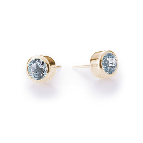 Lang Drop Earrings in White Topaz