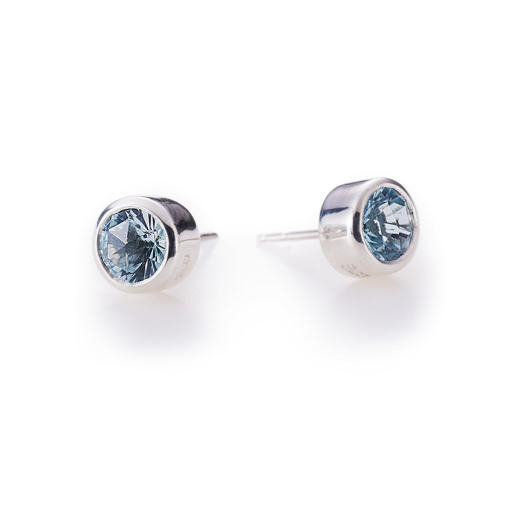 Lang Stud Earrings in Nantucket Blue Topaz
