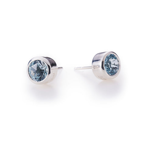 Lang Stud Earrings in 14k Yellow Gold in White Quartz