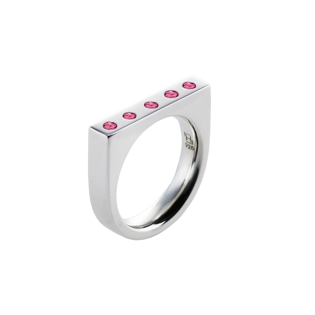 Lee Ring with Stones in Pink Tourmaline