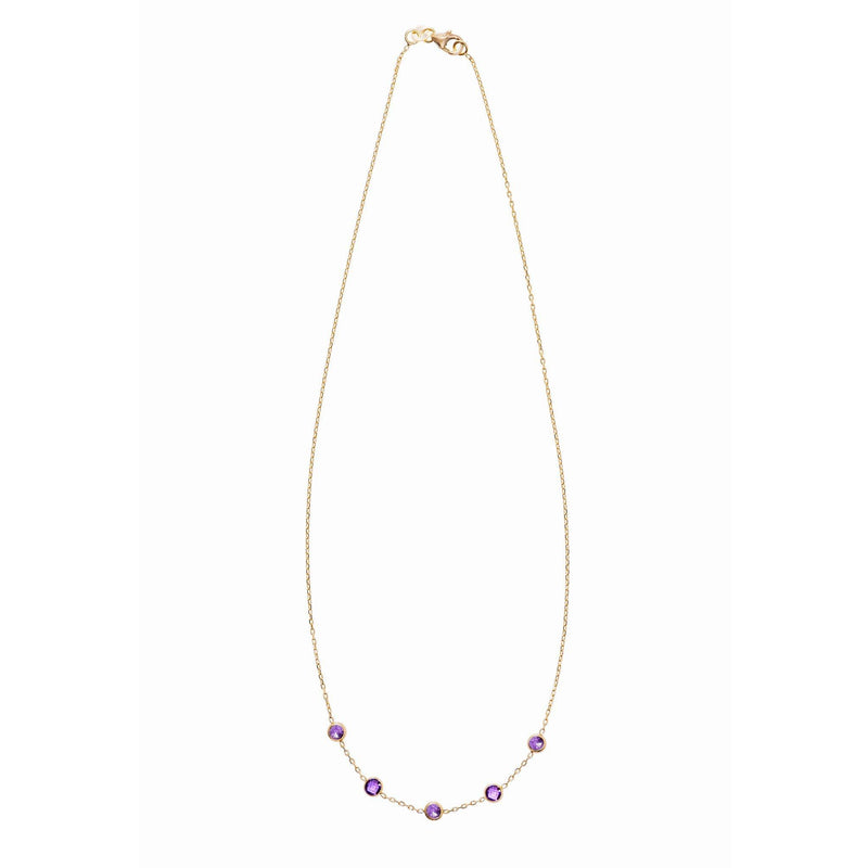 Madeleine Necklace in Gold with Amethyst
