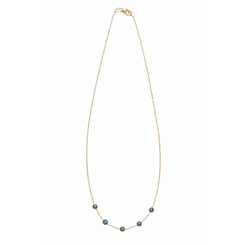 Madeleine Necklace in Gold with London Blue Topaz