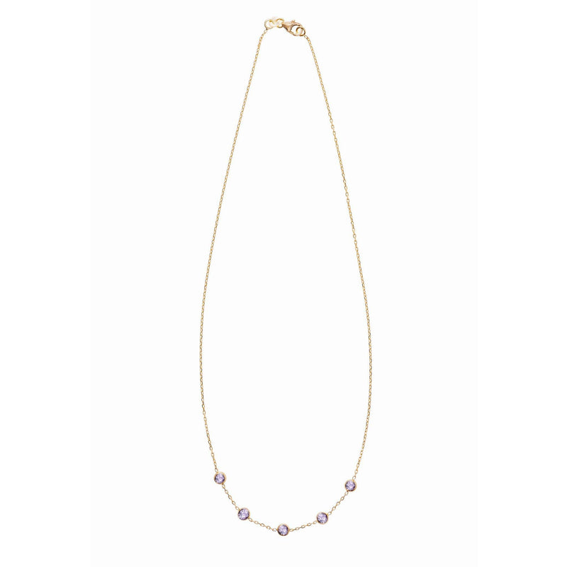 Madeleine Necklace in Gold with Rose de France