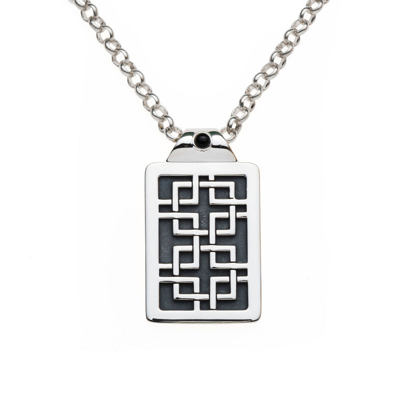 Aston Tag Pendant with Black Onyx