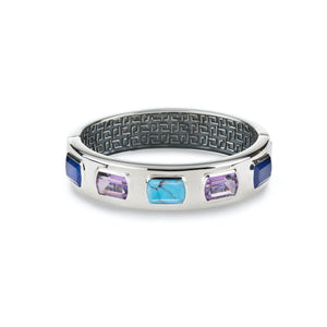 Ventana Bangle in Turquoise, Lapis, Amethyst