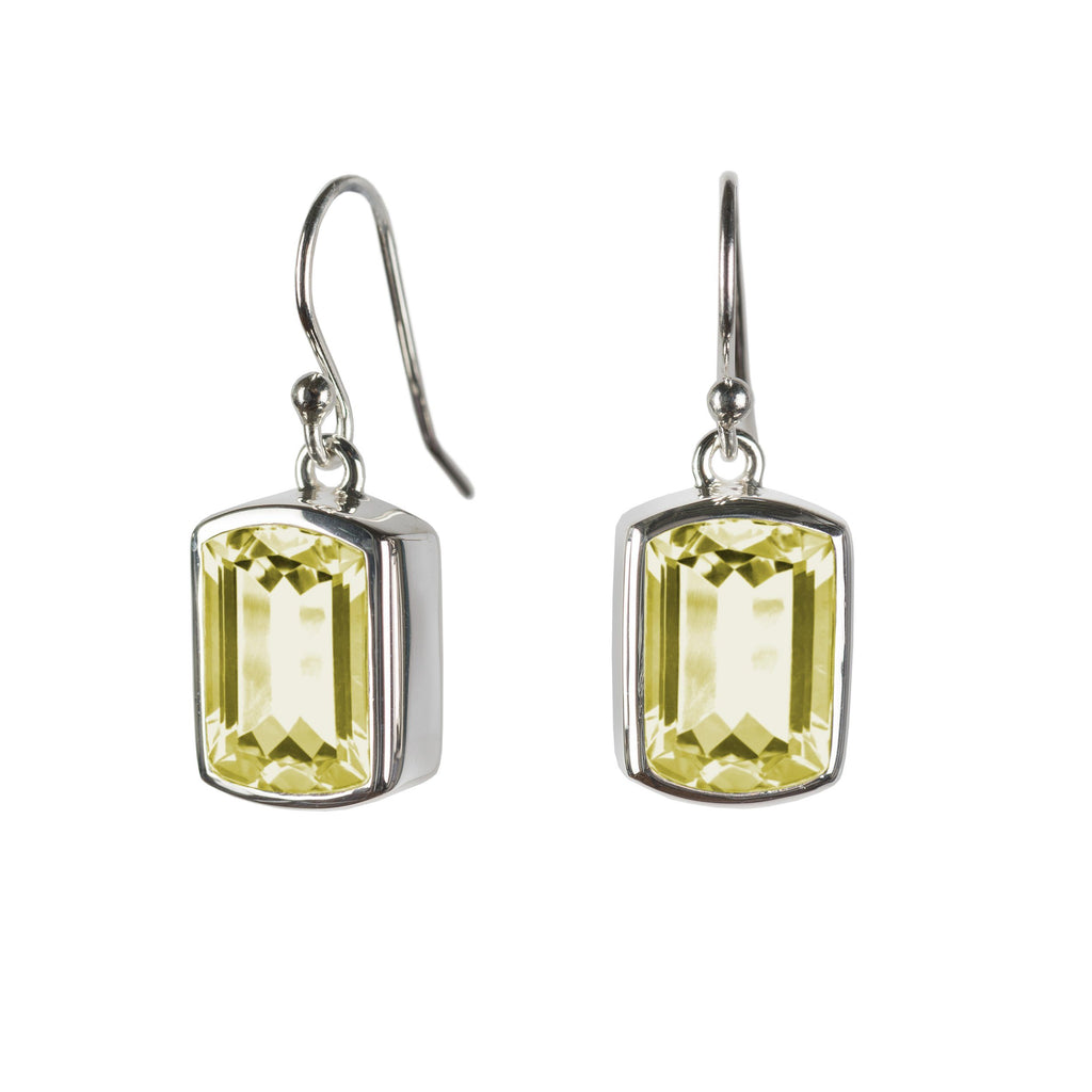 Ventana Earrings in Lemon Quartz