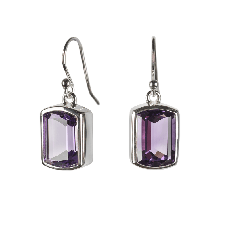 Ventana Earrings in Amethyst