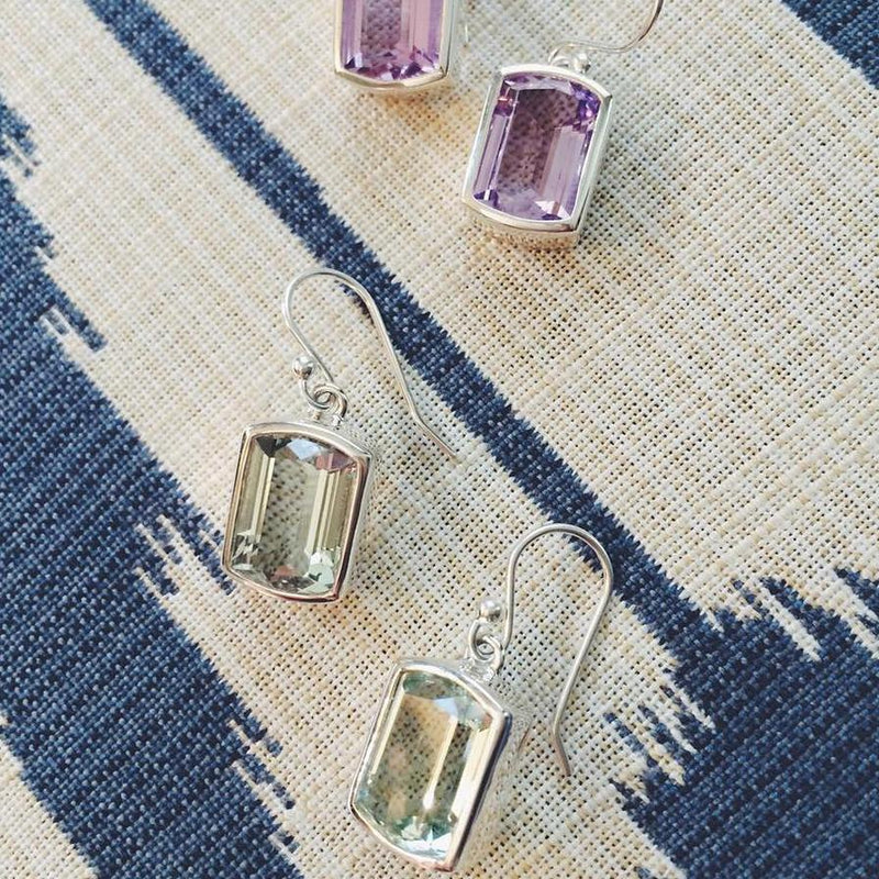 Ventana Earrings in Rose de France