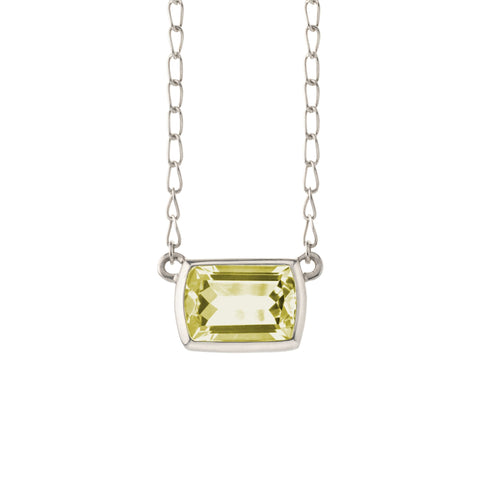 Bayberry Necklace in Silver with Citrine