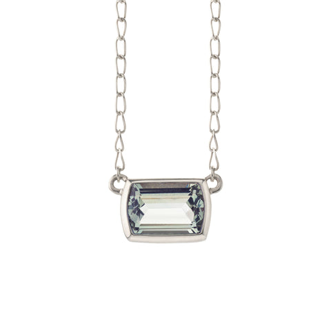 Ventana Solitaire Necklace in Rose Quartz