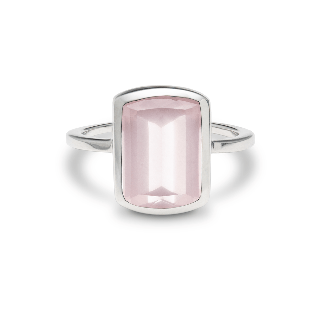 Ventana Vertical Ring in Rose Quartz