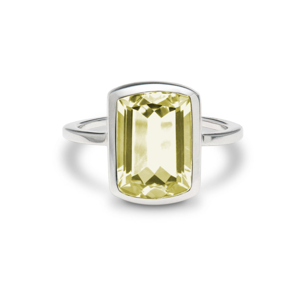 Ventana Vertical Ring in Lemon Quartz