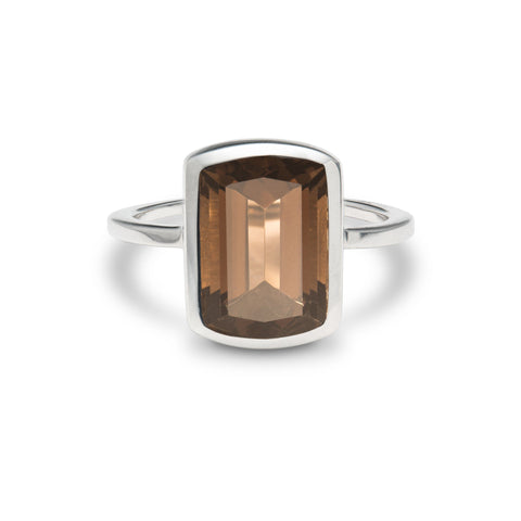 Lang Ring in Smoky Quartz