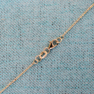 Personalized 3 Letter and 4 Stone Necklace 14k Gold (Double Spacing)