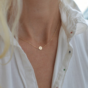 Letter A Necklace 14k Gold