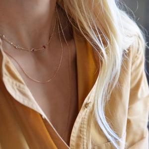 Mia Necklace in 14k Gold
