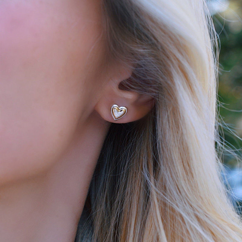 Charley Heart Earrings with Solid Gold