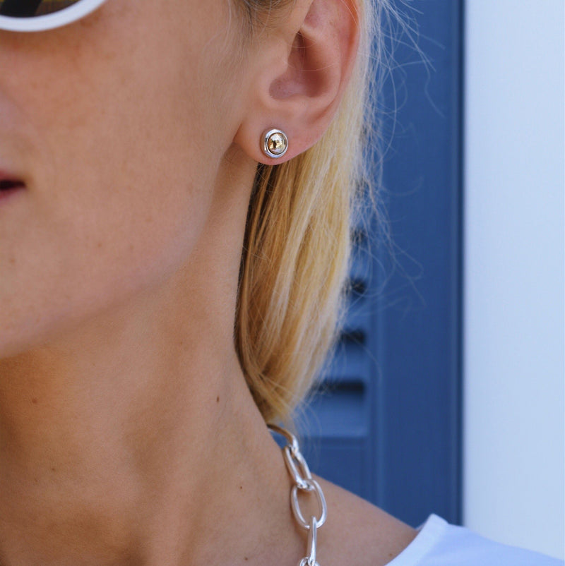 Charley Earrings with Solid Gold