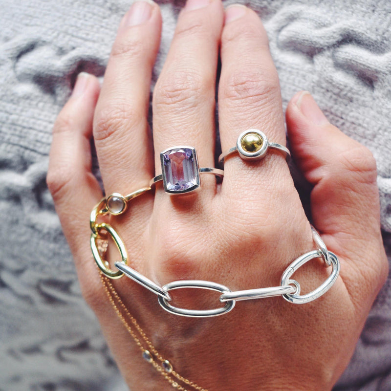 Charley Mini Ring with Solid Gold