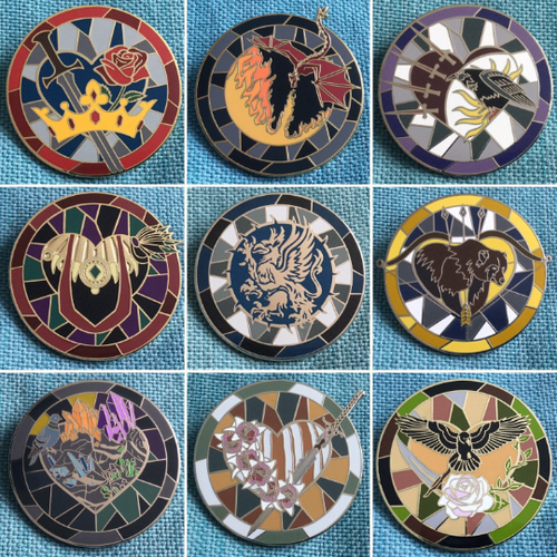 Dragon Age Companion Pins - SECONDS SALE