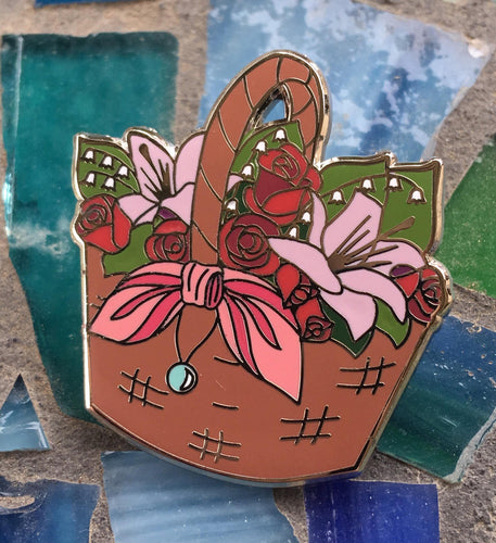 Final Fantasy 7 Enamel Pin - Aerith's Flower Basket