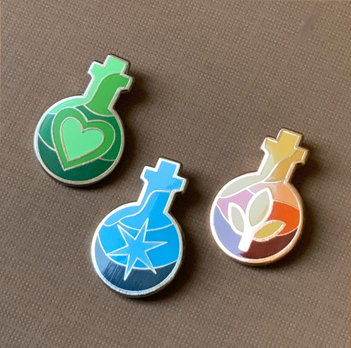 Dragon Age Potion & Tonic Pins - SECONDS SALE