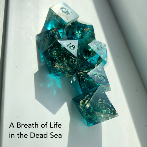 Handmade Dice Set - A Breath of Life in the Dead Sea