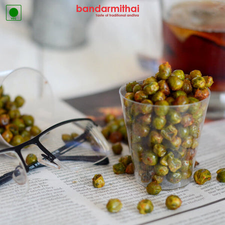 Roasted Masala Green Peas - Bandar Mithai (Andhra Home Foods)