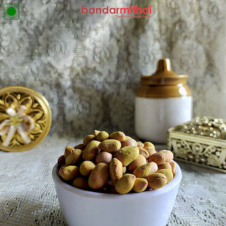 Spicy Sand Fried Peanut (Oil Less) - Bandar Mithai (Andhra Home Foods)