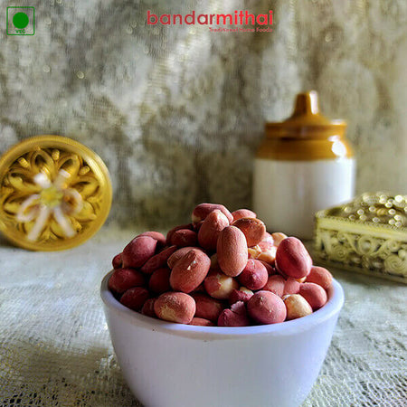 Salted Peanuts (Sand Fried - Oil less) - Bandar Mithai (Andhra Home Foods)