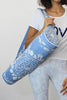Embroidered Cotton Yoga Bag | Blue/White
