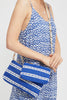 4 in 1 Medium Handwoven Cotton Bag by Pink Powder | Blue/White - Aspiga