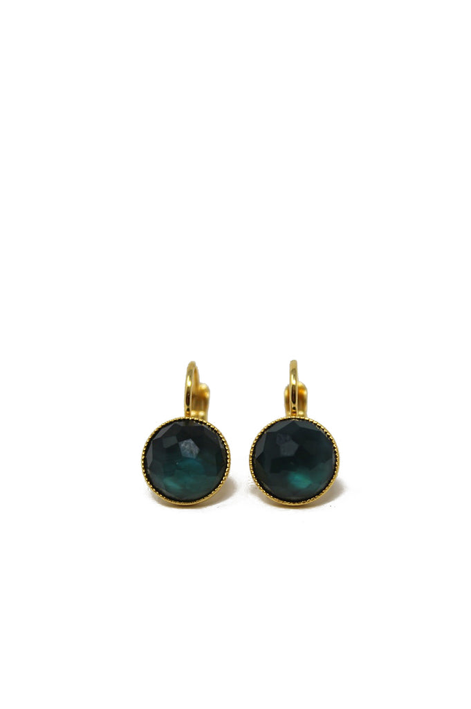 Pom Small Drop Earrings by Eva Krystal | Dark Blue