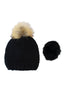 Milly Pom Pom Hat by Rose & Rose | Black - Aspiga