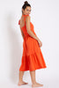 Tiered Beach Dress by Banana Moon | Orange - Aspiga
