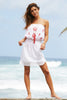 Rosa Embroidered Dress | White/Coral