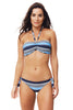 Amalfi Ruched Bandeau Bikini by Moontide | Navy