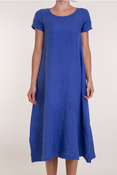 Annie Linen Dress | Marina Blue