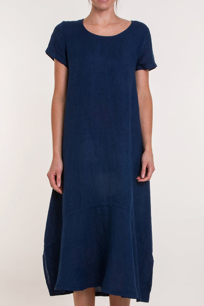 Annie Linen Dress | Ink Blue