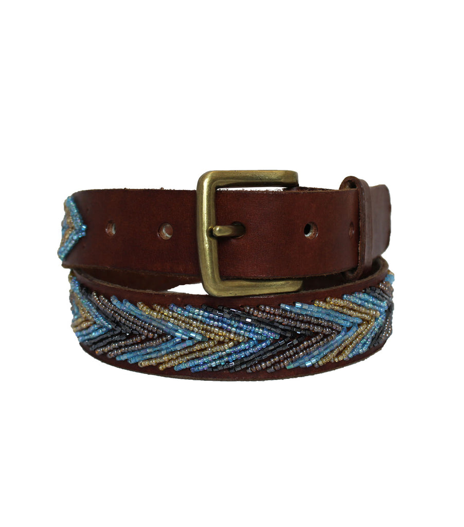 Arrow Belt | Blue Metallics