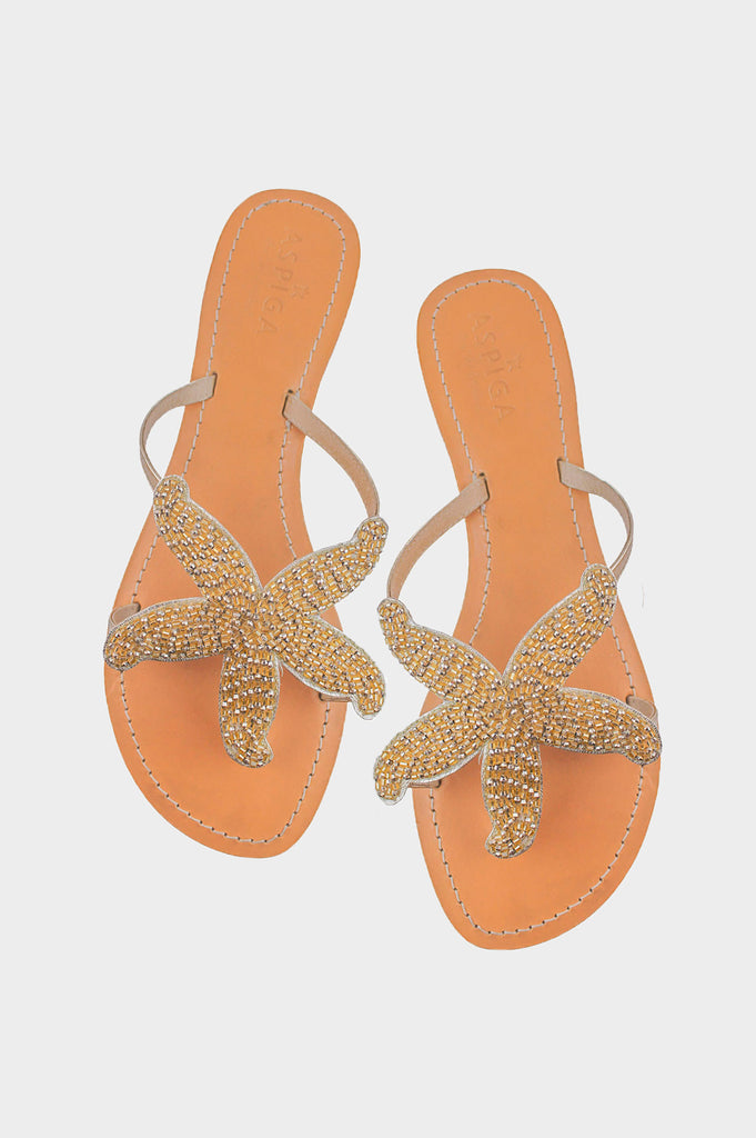 Starfish Sandals | Gold - Aspiga