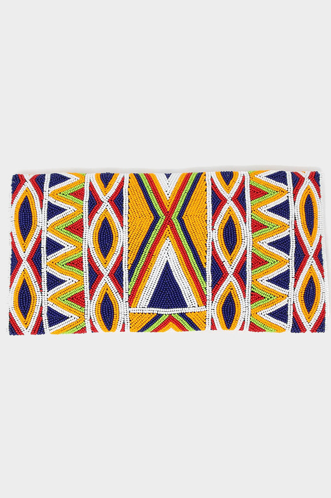 Becka Clutch | Orange/Multi - Aspiga