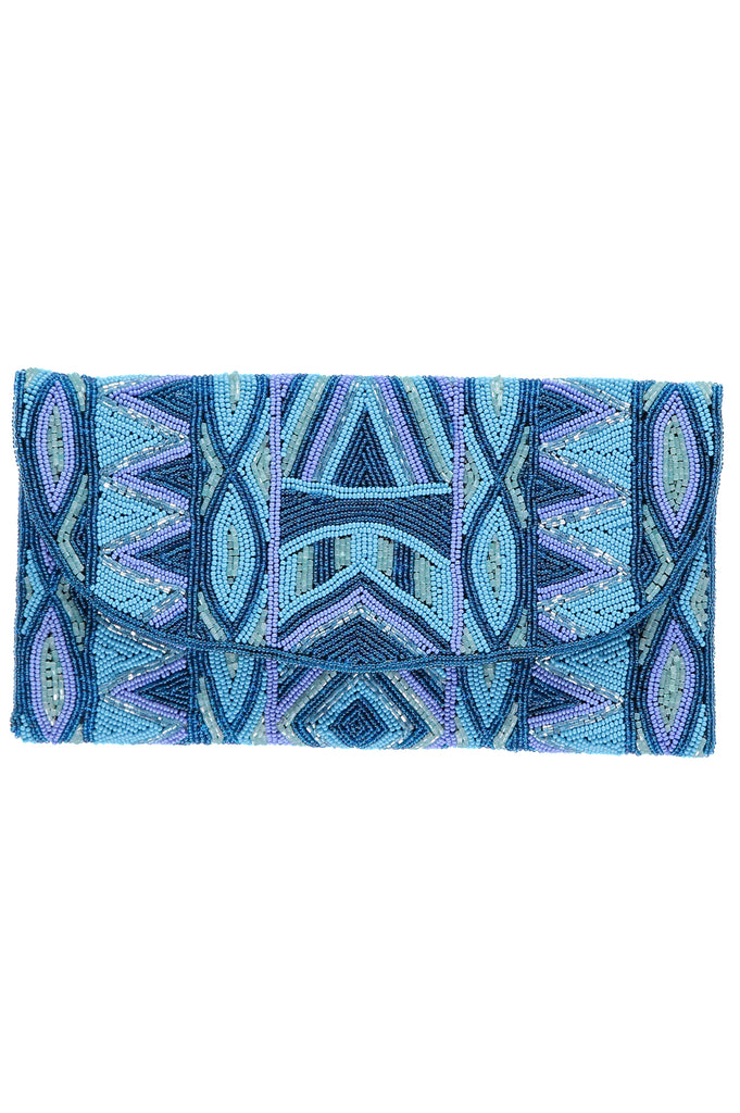 Becka Clutch | Turquoise/Blue