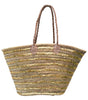 Sequined Striped Basket | Gold