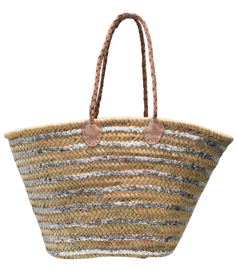 bc2b74d1e1df72 Sequined Striped Basket