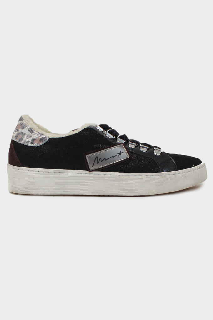 Leather Low-Top Trainers | Black